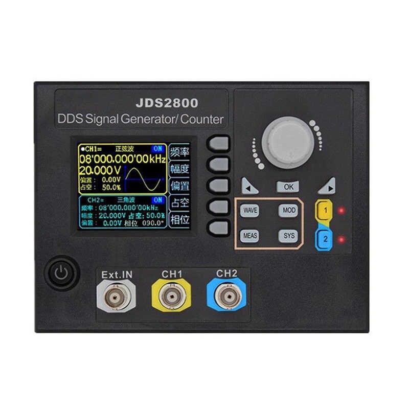 Jds2800 15Mhz double canal Dds fonction générateur de Signal Ac100-240V générateur de Signal de forme d'onde arbitraire avec Signal logiciel Sou