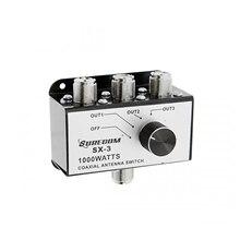 Surecom SX 3 1000W 3 posizioni CB Radio coassiale Antenna scatola di commutazione CB27MHz Rotary Switch commutabile