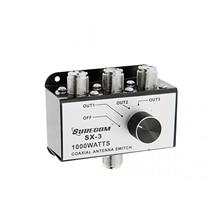 Surecom SX 3 1000W 3 pozisyon CB radyo koaksiyel anten anahtarı kutusu CB27MHz döner anahtar değiştirilebilir