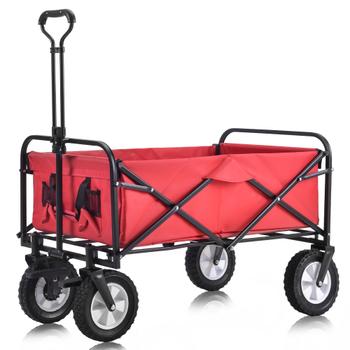 Pojemność 120kg 300kg 500kg składany wózek ręczny wózek Barrow koszyk ogród wózek z platformą domowe narzędzie ogrodowe tanie i dobre opinie CN (pochodzenie)