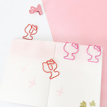 Tutu 10 unidades/pacote gato clipes de papel bookmark planejador memo clipes para livro artigos de papelaria escola material de escritório h0475