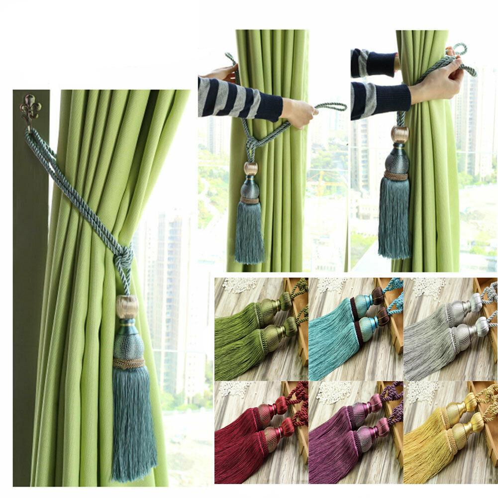 Brand New Beaded Curtain Holdbacks gunmetal