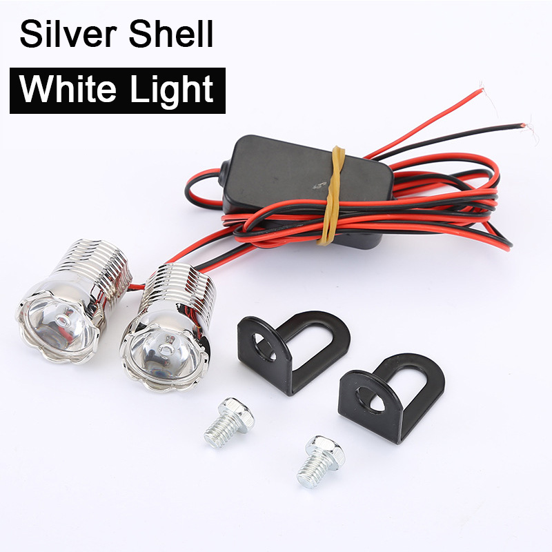 Universal motorcycle Waterproof Eagle Eyes bulbs 22mm 12V DRL strobe for moto motorcycle strobe lights Spotlight