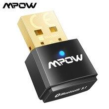 Mpow bh519 bluetooth 5.1 usb adaptador usb transmissor e receptor 2 em 1 bluetooth dongle para portátil desktop fones de ouvido alto falantes