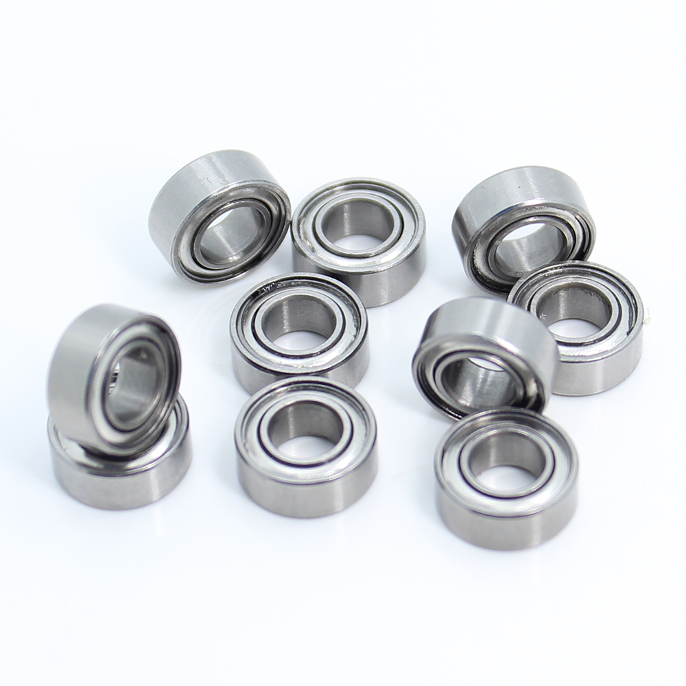 MR105ZZ Bearing (10PCS) <font><b>5*10*4</b></font> mm Metal Shielded Steel Miniature MR105 ZZ ABEC-1 Ball Bearings L-1050ZZ MR105-2Z 5X10X4mm image