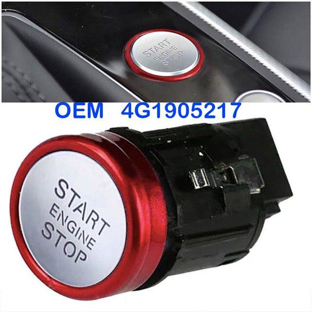 Die neue 4G1905217 start stop motor zündung schalter taste ist geeignet für Audi A6 A7 RS7 OEM 4G190