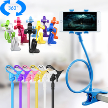 Long Flexible 360 Clip Mobile Cell Phone Holder Multiple Colorful Lazy Bed Desktop Bracket Mount Stand for IPhone for Samsung cheap OBSHI Universal All Tablet Size From 4 - 10 6 60cm Can be stretched to 11cm for iPad mobile phone MP3 digital camera GPS cameras etc
