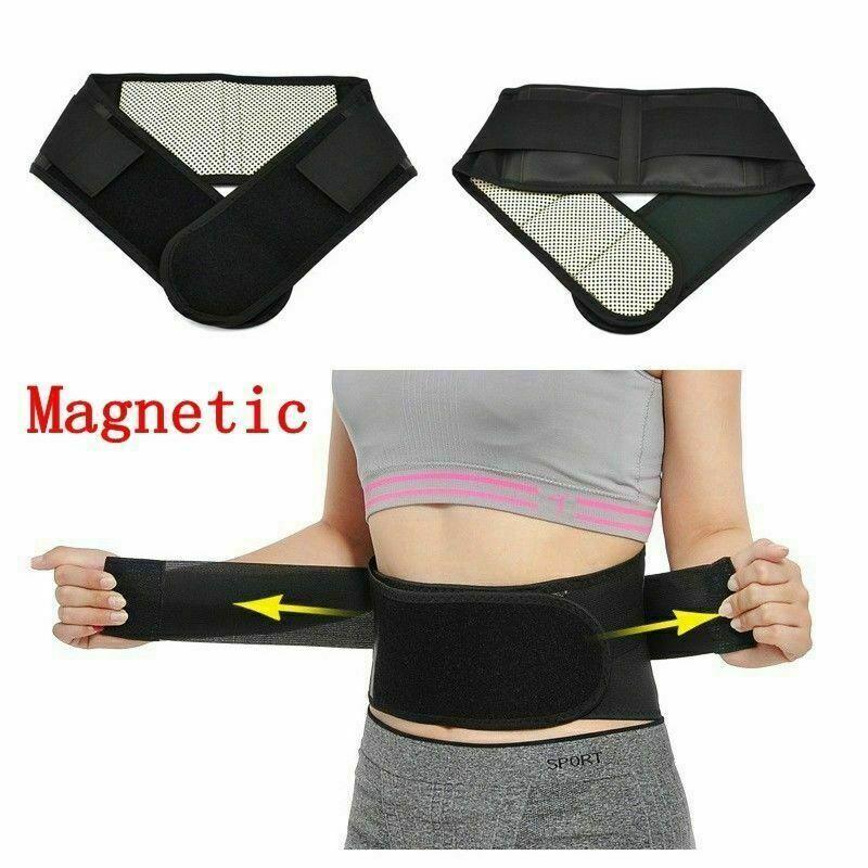 Men Women Hot Posture Corrector Support Magnetic Back Support Brace Belt Lumbar Lower Waist Double Adjustable PainRelief