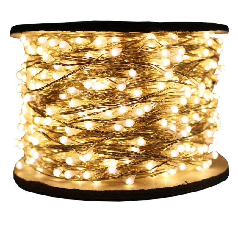 30m 50m 100m LED String Lights Street Garland Light Waterproof For Outdoor Christmas Fairy Lights Valentine's Day Decorat