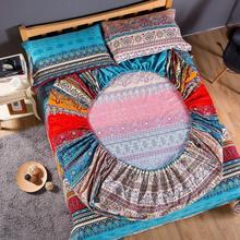 Богемная простыня по размеру матраса чехол пожелание наволочка домашний текстиль queen Размер постельное белье крышка