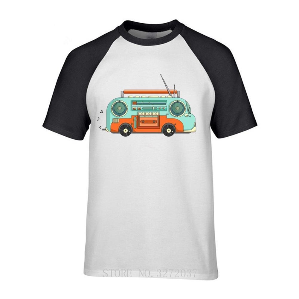 Забавная мужская футболка с музыкальным автобусом 2019, модные мужские футболки с коротким рукавом, мужские футболки, топы, футболки