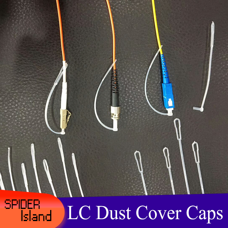 200pcs LC Dust Caps With Cord Dust Plug With Long Tails For Fiber Optic Connector 2.5mm 1.25mm FC ST SC Dust Cover