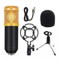 Micrófono de condensador para grabación de estudio, kit de micrófono para podcast kaorake, bm 800, radio de escritorio para pc y ordenador, bm800 800