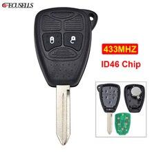 Nieuwe Vervanging 2 Knop Afstandsbediening Slimme Auto Sleutel 433Mhz ID46 Chip Fcc: m3N Voor Chrysler 300C Sebring Pt Cruiser 05179516AA