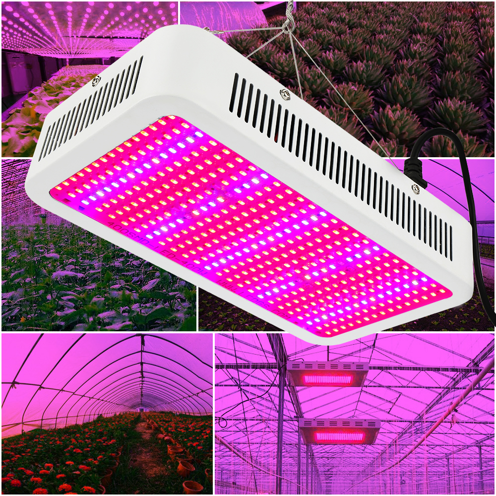 2pcs/lot 400W LED Grow Light Full Spectrum Phytolamp Plant Growth Lamp For Flowers Vegs Indoor Hydroponic Grow Tent Greenhouse