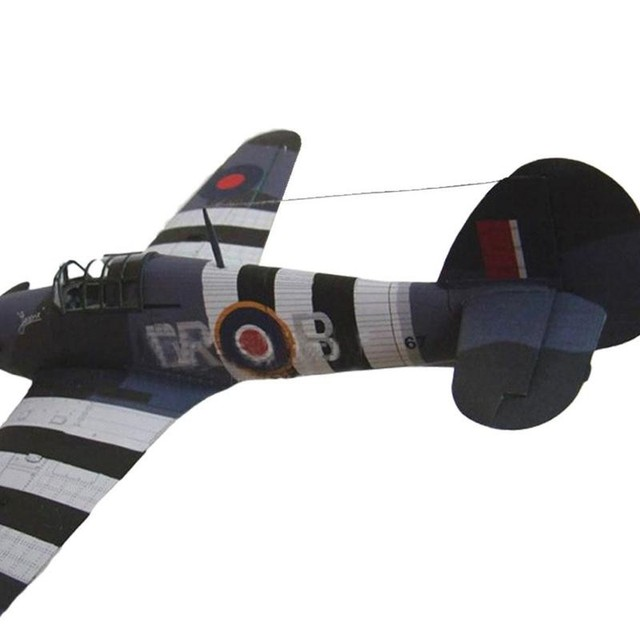 1:33 British Hurricane Fighter DIY 3D Paper Card Model Military Educational Sets Construction Model Building Toys Toys C7I9 2