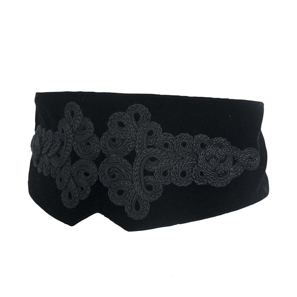 Ladies Belts For Women Girls Fashion High Waist Lace Embroidery Corset Belt Waistband Vintage Party Woman Belt