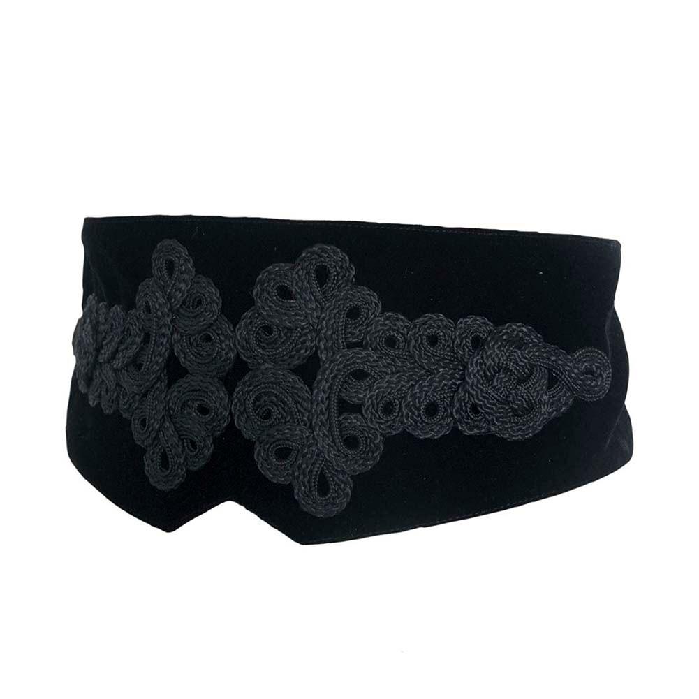 Ladies Belts For Women Girls Fashion High Waist Lace Embroidery Corset Belt Waistband Vintage Party Woman Belt