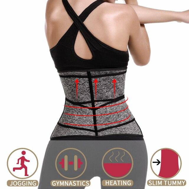 Waist Corset Trainer Body Shaper Sauna Sweat Sport Girdle Fajas Modeladoras Women Weight Loss Lumbar Shaper Workout Trimmer Belt 1