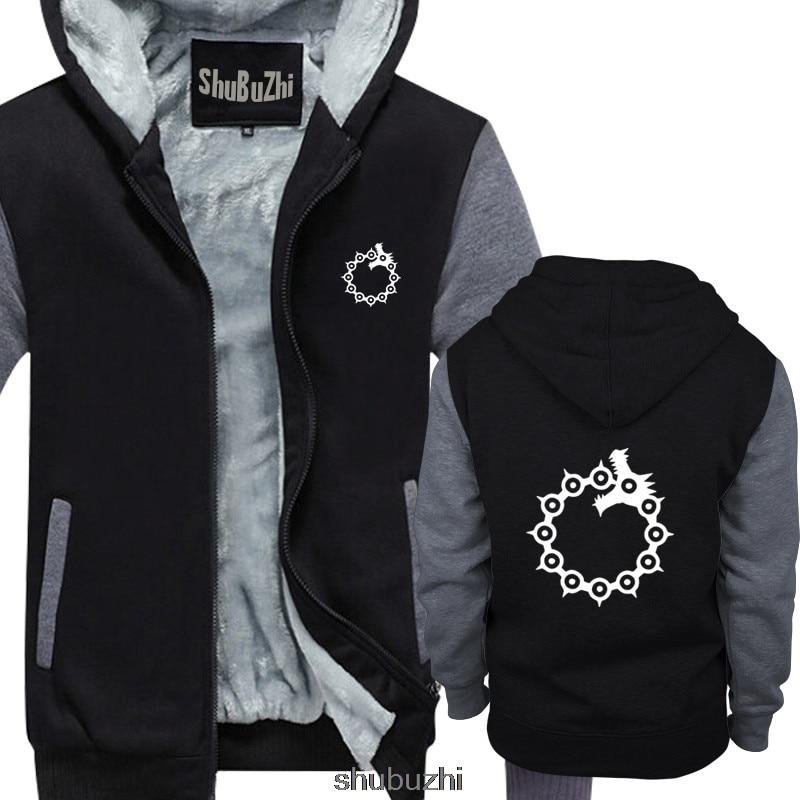 Seven Deadly Sins Anime Meliodas Sin Of Wrath mens hoodie black top quality Casual hoodie men Unisex winter shubuzhi sbz3113