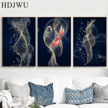 Nordic Canvas Home Wall Picture Abstract Lines Printing Posters Pictures for Living Room  Decor DJ388