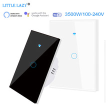 1 gang Wifi Smart Touch Light Switch Support RF433 433Mhz remote control Alexa Google Home 100-240V