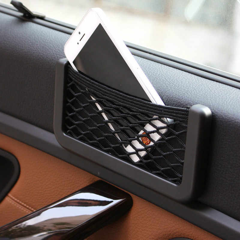Para Opel Astra Corsa Antara Meriva Zafira asiento de coche bolso de red de almacenamiento lateral de malla soporte de teléfono organizador de maletero de bolsillo