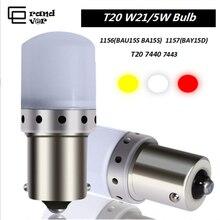 2 шт. T20 светодиодный 7440 W21W 7443 W21/5 Вт лампочки 1157 BAY15D 1156 P21W светодиодный BA15S BAU15S PY21W лампы идеально подходят для стоп-сигналы