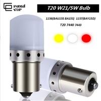 2PCS T20 LED 7440 W21W 7443 W21/5 W Lampadine 1157 BAY15D 1156 P21W LED BA15S BAU15S PY21W lampada Per Luci di Retromarcia Luci di Stop