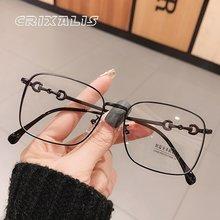 CRIXALIS de bloqueo de luz azul gafas mujer de Metal cuadrado dioptrías montura de gafas de lectura para mujer UV400 mujeres gafas