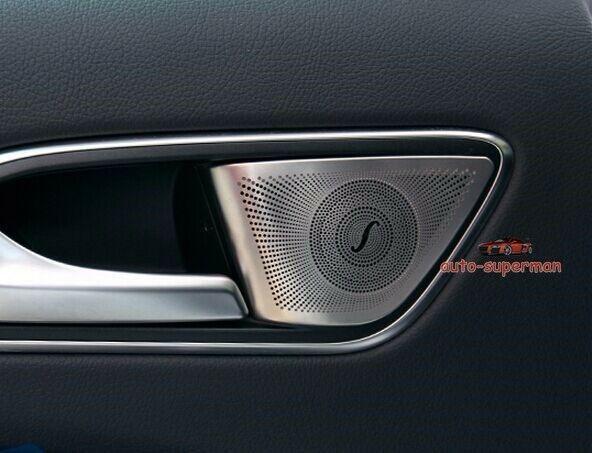 Rear Door Speaker Sound Matt Chrome trim cover Frame For  Benz GLA CLA W176 A B Class|Chromium Styling|   - title=