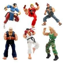18cm neca clássico jogo chun-li chun li ken guile hoshi ryu akuma gouki figura de ação pvc collectible modelo brinquedos para meninos presente