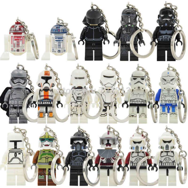 R2-D2 фигурки из «Звездных Войн» брелок новый Wolfpack Клон солдат лиса капитан Рекс тени АРФ строительные блоки модели игрушки Legoing