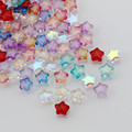 Стеклянные бусины со звездами 8 мм, прозрачные хрустальные свободные бусины-разделители для браслетов и ожерелий ручной работы, поставщик ю...
