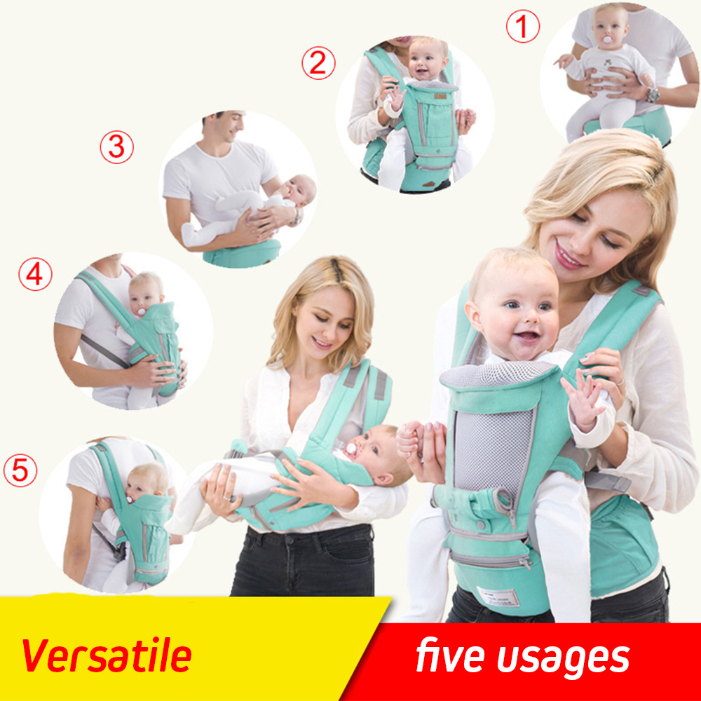 Ergonomic Front Facing Hip Baby Carrier Sling Infant Kid Newborn Baby Wrap Blanket Kangaroo Baby Carriers For Baby Travel 0-18