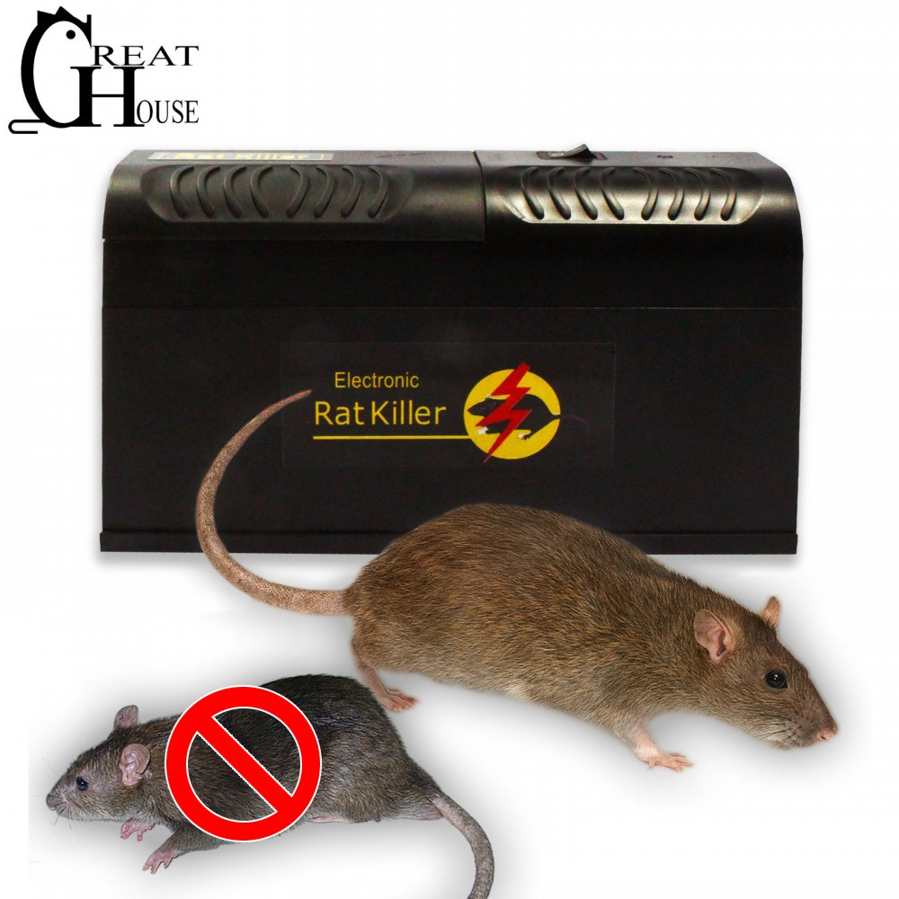 GREAT HOUSE High Voltage Electronic Mous Trap Pest Control Mouse Rat Killer US UK EU AU Plug Rodent Mousetrap Device title=
