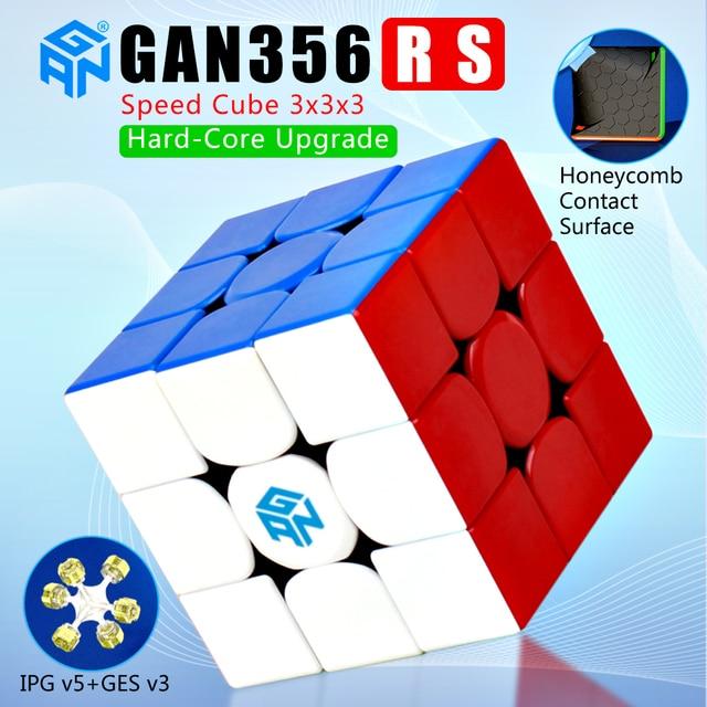لعبة مجسم سريعة سحرية من Gan356R S 3x3x3 لعبة مكعب الجان احترافية بدون ملصقات Gan356 RS 3x3 مجسم v2 gan 356RS ألعاب الألغاز Gan 356 R S