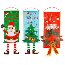 Merry Christmas Wall Hanging Tapestry Home Window Decor Festival Party Ornament