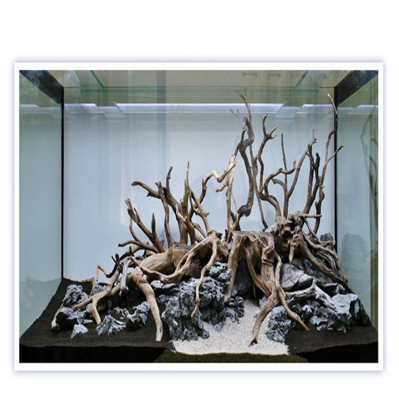 Natural Tree Trunk Driftwood Aquarium Fish Tank Ornament Reptile Cylinder Making Roots Plant Wood Decoration (ramdon Shape)
