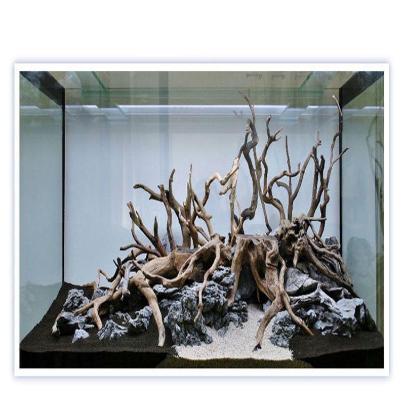 Natural Tree Trunk Driftwood Aquarium Fish Tank Ornament Reptile Cylinder Making Roots Plant Wood Decoration (ramdon shape)
