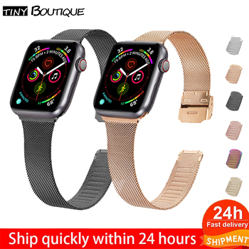 Watch Strap for Apple Band 42 38mm Milanese Loop Buckle Iwatch 40 44 mm 5/4/3/2