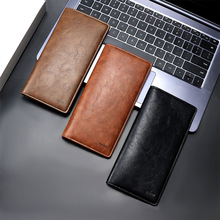 New Men Wallet Leather Ultra Thin Long Wallets