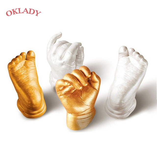 Oklady 3D Hand Foot Print Mold for Baby Powder Plaster Casting Kit Handprint Footprint Keepsake Gift