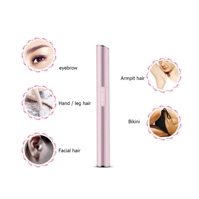 Electric Face Eyebrows Scissors Portable Armpit Leg Hair Remover Mini Trimmer Body Skin Shaver Razor Epilator 5