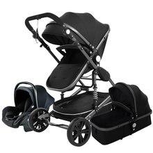 Детская коляска 3 в 1 с высоким ландшафтом сиденье для автомобиля