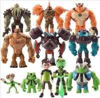 11 unids/set Ben 10 Ben Tennyson Diamondhead Alien X Rath Etc. Ben10 de PVC figuras juguetes Kineceleran Heatblast juguete mo