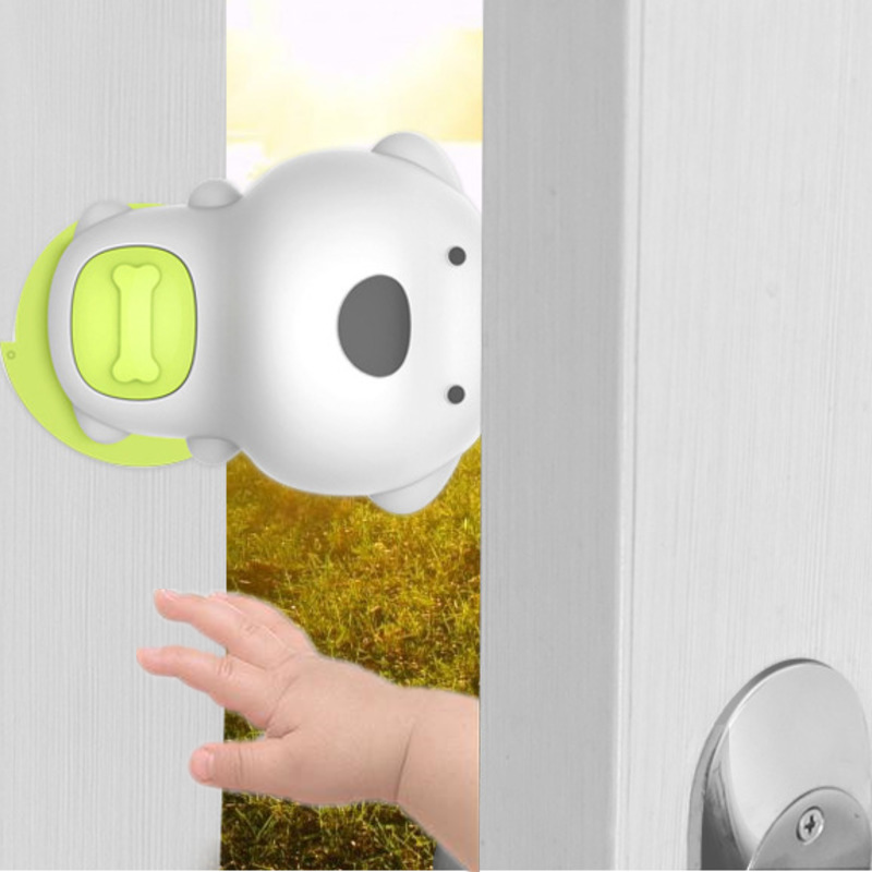Safety Protection Baby Safety Cute Dog Panda Security Card Door Stopper Baby Newborn Care Child Lock Protection From Children