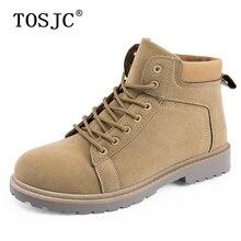 TOSJC/Новое поступление; мужские повседневные ботильоны; армейские боевые ботинки на шнуровке; Прочные мужские рабочие ботинки для пустыни; красивые ковбойские сапоги для взрослых