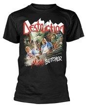 Camiseta destruição mad mad butcher' (preto)-novo e oficial!