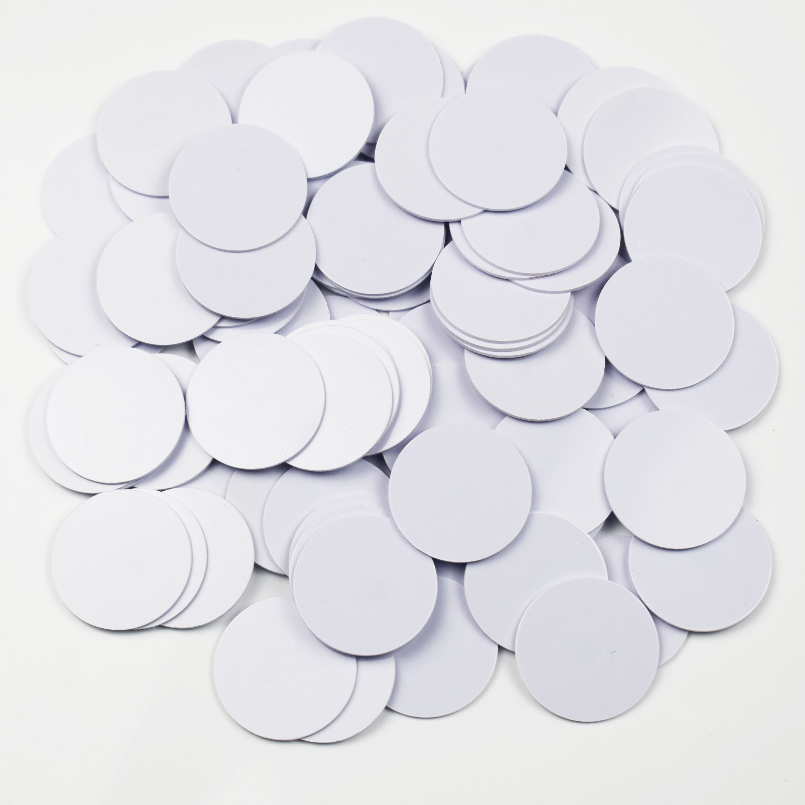 5PCS NTAG215 NFC Card Coin Tags Sticker Phone Available Adhesive Labels RFID Tag 25mm